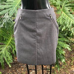 H&M Gray Short Mini Shirt with Zippers